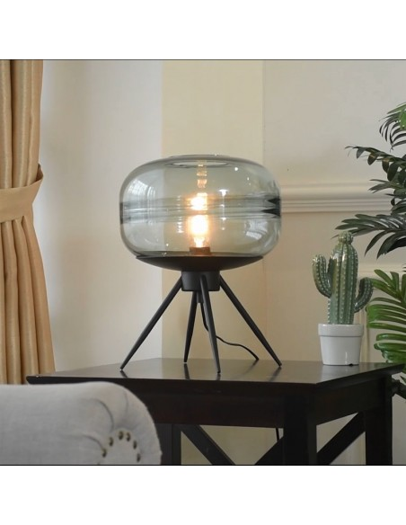Lacquered Glass Table Lamp