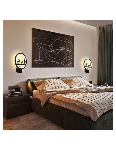 Artistic Painting LED Wall Light