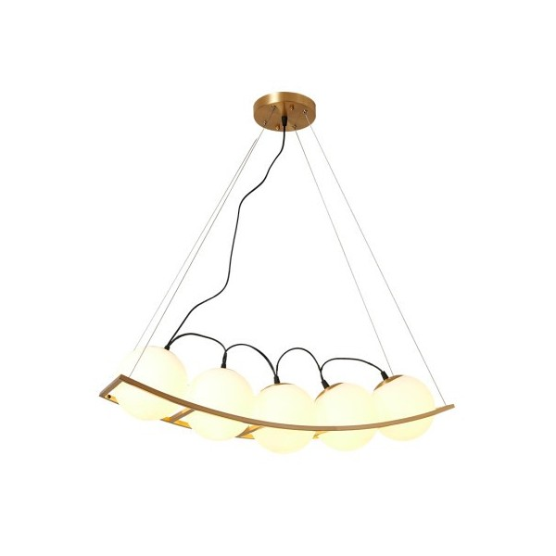 Curved Pea Pendant Lamp