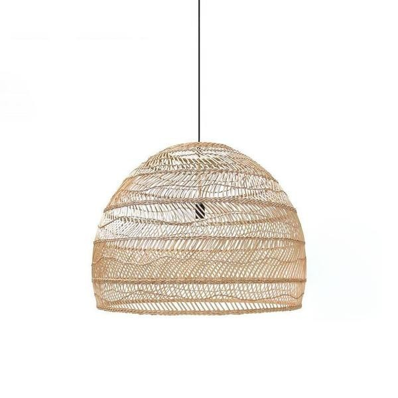 Wicker pendant lamp